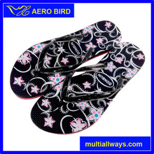New Colorful Fashion PE Sole Slipper for Ladies (15I009)