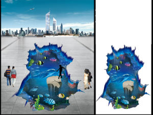 PVC Vinyl 3D Outdoor Street Floor Wall Sticker pictures & photos