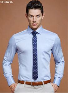 OEM Latest Design Light Blue Men′s Dress Shirts pictures & photos