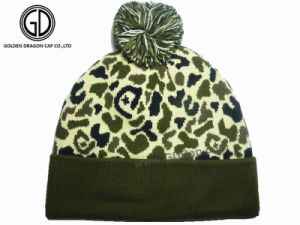 Classic Fashion Custom Camo Winter Warm Beanie Hat pictures & photos