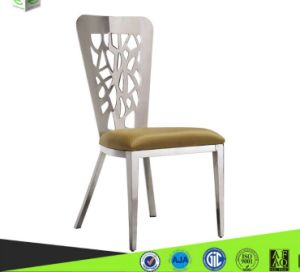 Metal High Back Fabric Cushion Dining Table for Sale (B8082)