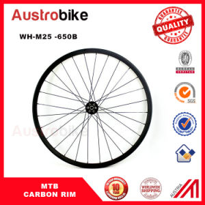 24mm Wide Newest Carbon Fiber Rims Carbon Bicycle Rims, MTB Carbon Rims 650b Tubeless pictures & photos