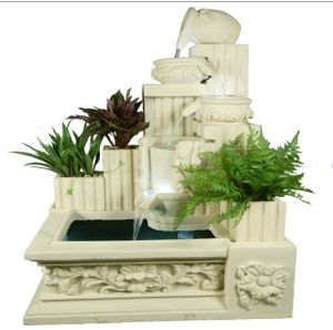 Sandstone Sculpture Square Decorations Water Resin Fountain pictures & photos