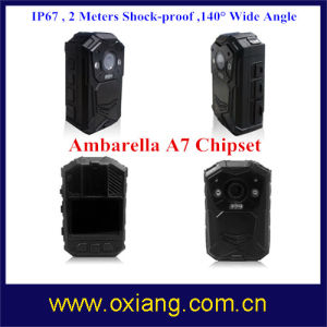 Ambarella A7 Chipset Built in GPS 140 Degree IP67 Police Body Worn Camera pictures & photos