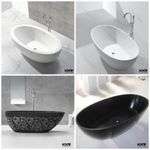 Modern Freestanding White Matte Solid Surface Bath Tub pictures & photos