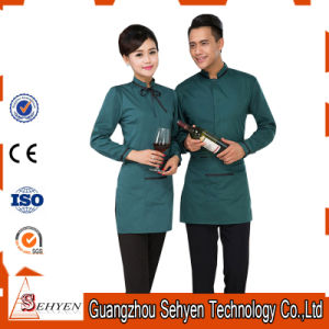 Elegant Restaurant Waiter Uniform (OEM Service) of Cotton and Polyester pictures & photos