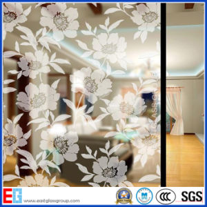 Clear Acid Etched Glass/Frosted Glass/Colored Frosted Glass/Frost Glass/Sandblasting Glass (AD52) pictures & photos