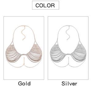 Fashion Full Rhinestone Crystal Metal Chain Bra Body Jewelry pictures & photos
