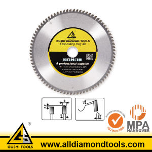 Brazed Tct Circular Saw Blade for Cutting Aluminum pictures & photos