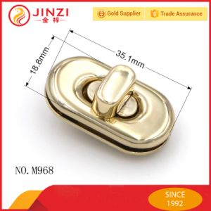 High End Zinc Metal Egg Shape Twist Handbags Lock in Gold pictures & photos