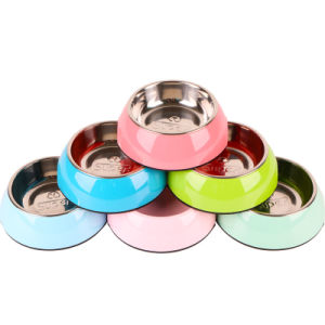 Design Stainless Steel Dog Round Feeding Pet Metal Bowls pictures & photos
