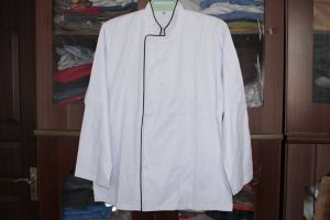 Pressed Button Chef Coat, Chef Jacket, Cook Jacket pictures & photos