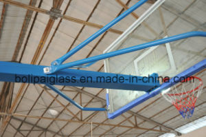 Tempered Glass Backboard Size 1800mm*1050mm Blue Color Movable Basketball Stand pictures & photos