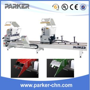 Precision Aluminum Window Door Double Head Cutting Saw pictures & photos