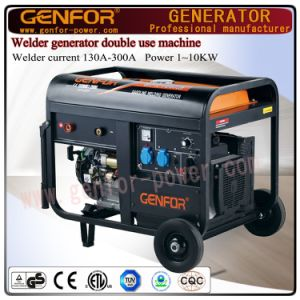 Open Type New Design Electric Single Phase 200A Gasoline Welder Generator for Sale pictures & photos
