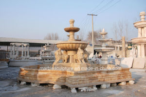 Golden Desert Stone Sculpture Marble Fountain (SY-F111) pictures & photos