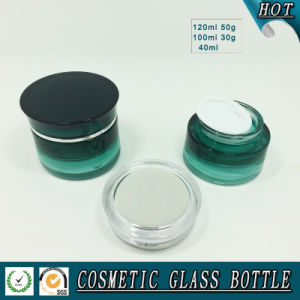 Green Gradient Cosmetic Glass Bottle Packaging Empty Serum Bottle pictures & photos