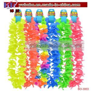 Plastic Hawaiian Leisluau Leis Polyester Flower Lei (BO-3003) pictures & photos