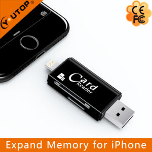 Microsd+SD OTG Card Reader for iPhone Android USB Flash Drive (YT-R007) pictures & photos