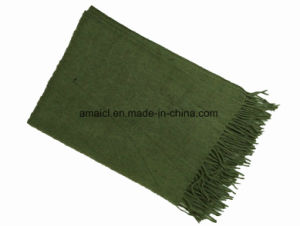 Multiple Color Solid Dyed Acrylic Scarf with Tassel for Ladies (ABF22004007) pictures & photos