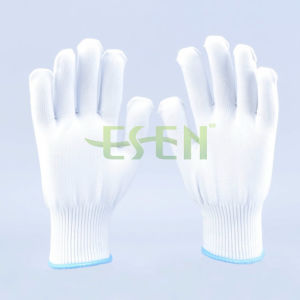 Hot Sale White Polyester Gloves with High Quality for Construction pictures & photos