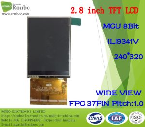 2.8 Inch 240X320 MCU 8bit 37pin High Brightness/Wide View TFT LCD Module pictures & photos