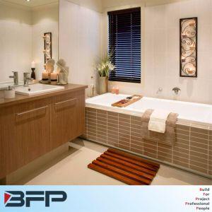 Wall Mounted Imitation Wood Grain Melamine Veneer Bathroom Cabinet pictures & photos