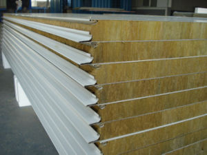 China Fireproofing Soundproof Rock Wool Sandwich Panels pictures & photos