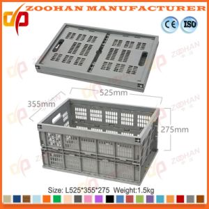 Plastic Vegetable Storage Basket Food Container Fruit Turnover Box (Zhtb7) pictures & photos