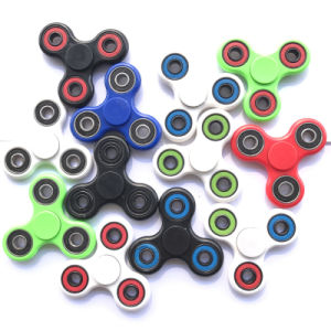 Tri-Spinner Fidget Toy Hand Spinner Plastic EDC Hand Spinner for Autism and Adhd Finger Spinner pictures & photos