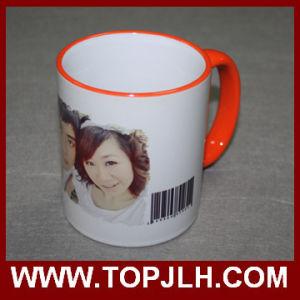 Porcelain Sublimation Ceramic 11oz Border Colorful Mug pictures & photos