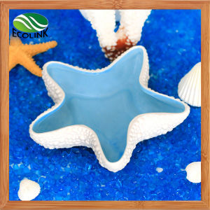 Starfish Pattern Solid White Blue Style Hamsters Habitat Ceramics Toys Water Food Pot pictures & photos