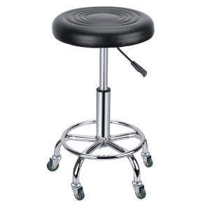 Black Round Stool with Footrest Hair Beauty Salon Zc21 pictures & photos