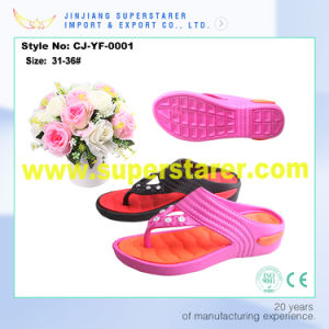 EVA Height Incresing Shoes, Flip Flops Kids China pictures & photos