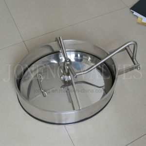 Ss304&Ss316L Oval Inward Opening Stainless Steel Manways Sanitary Manhole Cover pictures & photos