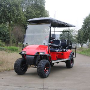 Customized 6 Seater Electric Golf Cart (Folding windshield \Rear flip seats\Sun shade can be chossed) pictures & photos