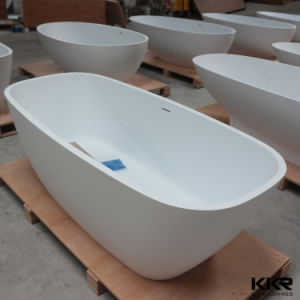 Indoor Solid Surface Bathroom Freestanding Stone Bathtub pictures & photos
