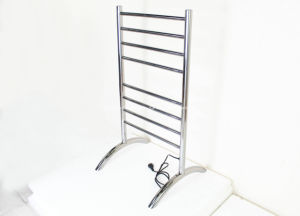 Euro Style High Grade Stainless Steel Floor Standing Heated Towel Rack pictures & photos