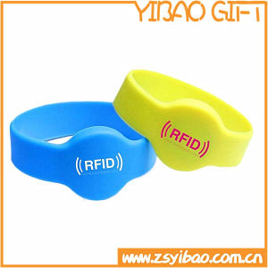 Custom Logo Watch Shape Silicon Wristband for Gifts (YB-SW-12) pictures & photos