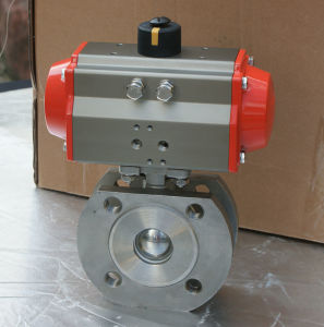 Pneumatic Thin Type Ball Valve, Italy Type Pneumatic Ball Valve pictures & photos