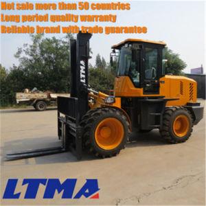 New Design 10 Ton Diesel Rough Terrain Forklift for Sale pictures & photos