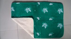 Super Soft 100% Polyester Printed Sherpa Fleece Throw /Baby Blanket pictures & photos