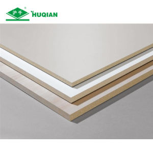 5mm White Laminated Melamine Coated MDF Backing Board Supplier pictures & photos