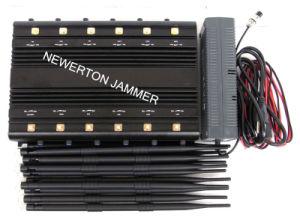 Universal 12-Antennas Desktop 2g 3G 4G Cell Phone Jammer WiFi GPS Lojack UHF VHF Jammer 315/433MHz Jammer Blocker pictures & photos