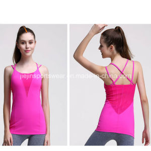 Any Color Ladies Workout Gym Sports Fitness 100 Cotton Tank Top pictures & photos