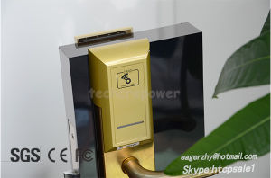 Stainless Steel Network Online Wireless Hotel Door Lock Electronic Handle Lock for Access Control pictures & photos