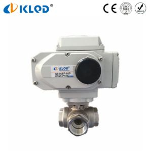 Electric Type Actuator Automatic Electrical 3 Way Water Float Ball Valve pictures & photos