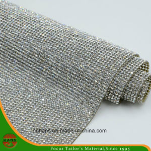 New Design Heat Transfer Adhesive Crystal Resin Rhinestone Mesh (YH-005) pictures & photos