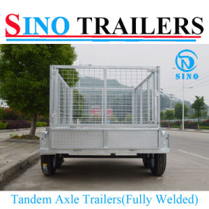 Heavy Duty Full Cage Tandem Welded Box Trailer pictures & photos