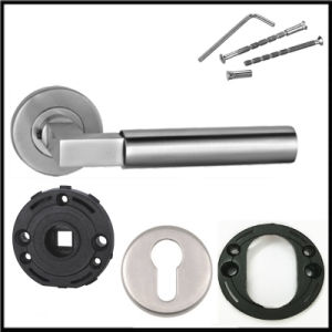 Stainless Steel Bathroom Lever Door Handles with Door Knobs pictures & photos